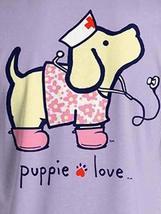 Puppie Love Rescue Dog Adult Unisex Short Sleeve Graphic T-Shirt,Nightingale Pup image 2