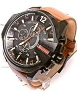 Diesel Men's DZ4343 Mega Chief Gunmetal Brown Leather Watch - £115.55 GBP