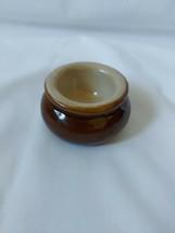 Vintage Pearson's Of Chesterfield Brown Glaze Butter Pat Pot 6cm Diameter - $6.84
