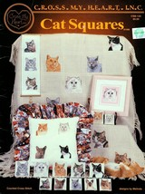 Cat Squares in Cross Stitch Designs by Melinda Cross My Heart Leaflet CS... - $5.95