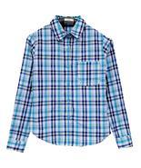 Men's grid Shirts Men Plaid shirt Grid Camisa Masculina Chemise homme La... - $29.85