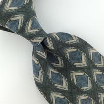 VAN HEUSEN SKY/BLUE Beige Olive Green GEOMETRIC Arrow Silk Neck Tie H2-174 - $15.83