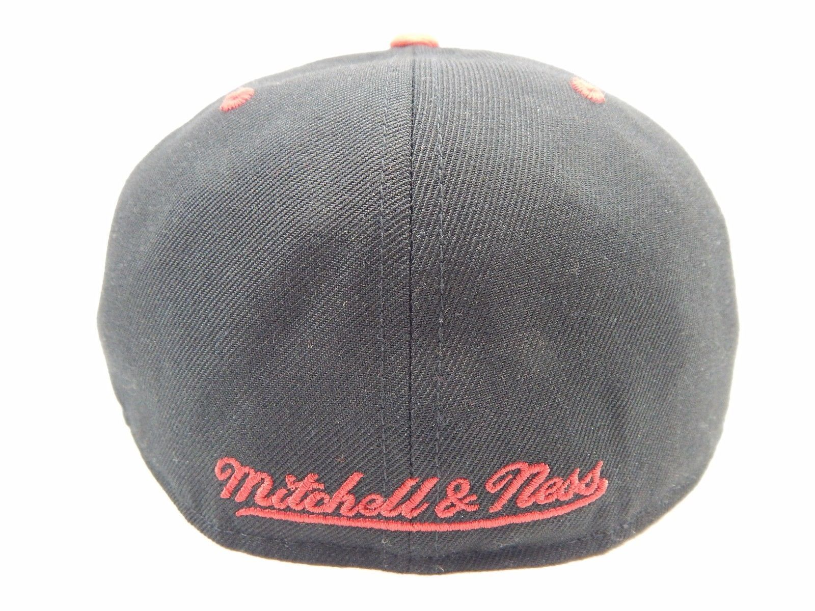 Miami Heat Mitchell & Ness Size 7 1/2 Crown Fitted NBA Cap Hat Black Red Gray