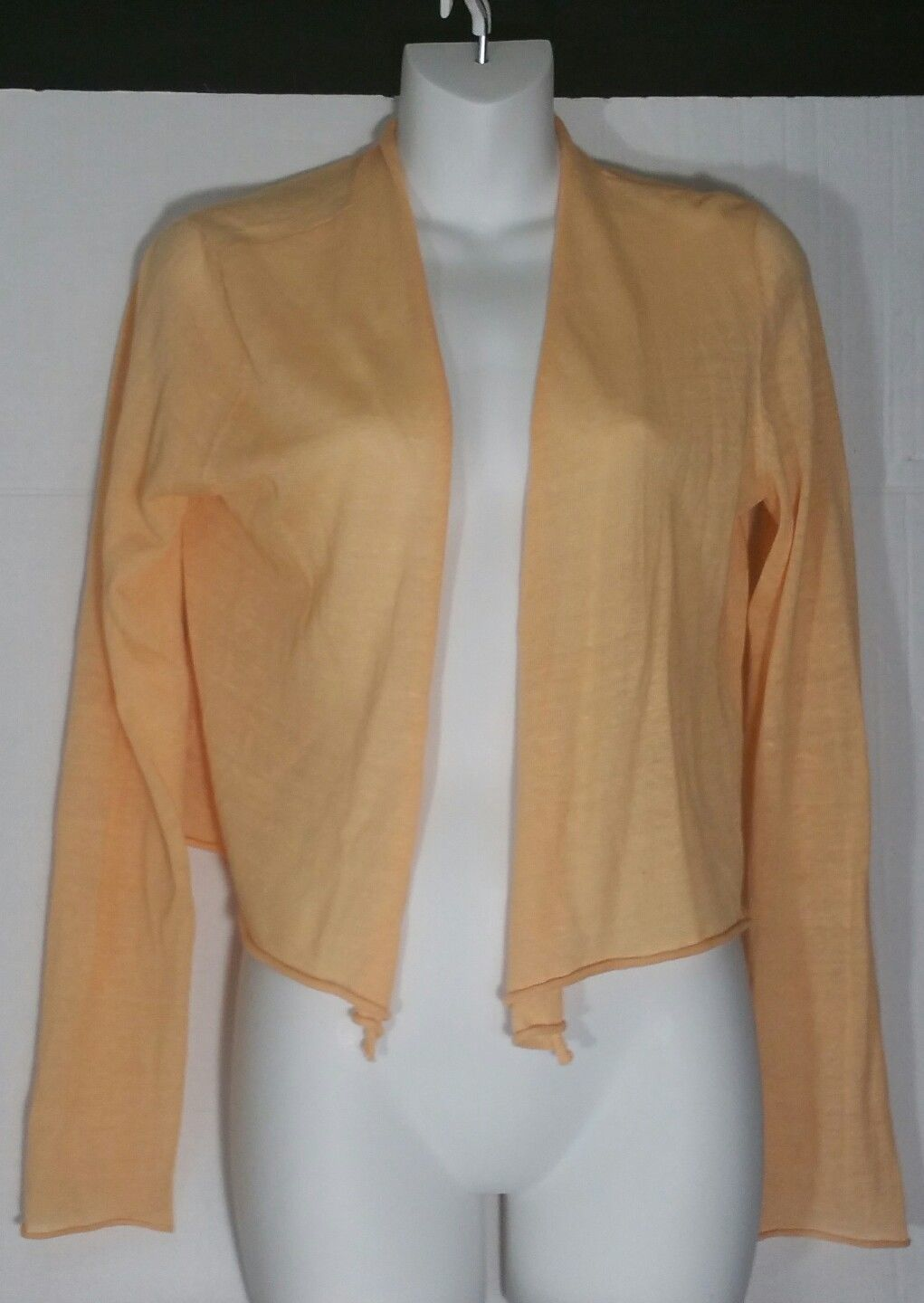 Eileen Fisher Cardigan Sweater S Small Simple Cropped Lightweight Apricot NWT - $98.99