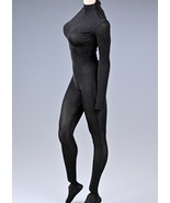 Black/White/Pink 1/6 Female Figure Body Tight Elastic Jumpsuit Outfit Cl... - £19.47 GBP
