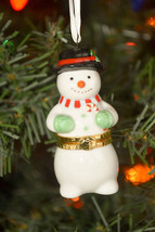 Hallmark -  Porcelain Hinged Box - Warmhearted Snowman - Ornament - $10.01