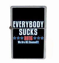 Everybody Sucks Rs1 Flip Top Oil Lighter Wind Resistant With Case - $12.82