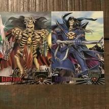 Lot of 2 Fleer Ultra Skeleton Warriors 1995 Baron Dark Grimskull Trading Cards - $9.49