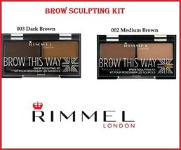 Rimmel Brow This Way Eyebrow Sculpting Kit with Pro Brushes - $7.39