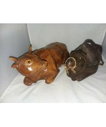 Hand Carved Wood Large Cow and Camel Vintage Primitive Nativity Christmas - $18.99
