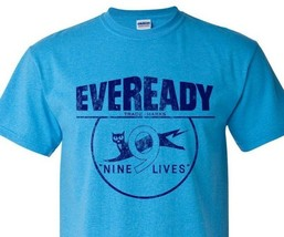 Eveready T-shirt Free Shipping distressed vintage style retro heather blue tee image 2