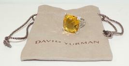 DAVID YURMAN Cushion On Point 20mm Lemon Citrine Diamond Ring Size 6.25 ... - $327.24
