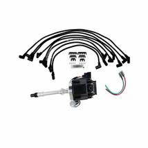 SBC Chevy 283 327 350 383 HEI Distributor with 8Mmm Spark Plug Wires image 1