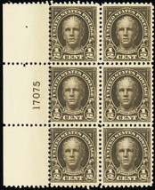 551, Mint NH 1/2¢ Plate Block of Six Stamps Cat $25.00 -- Stuart Katz - $9.95