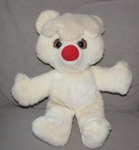VINTAGE BEARYS N CREAM STUFFED PLUSH COMMONWEALTH TEDDY BEAR 1982 WHITE RED - $98.99