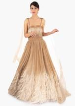 Beautiful Golden Net Gown6149 - $1,169.00