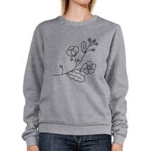 Flower Unisex Sweatshirts Flower Printed Round Neck Pullover Fleece - $20.99+
