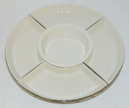 Godinger 6325 Siena Six Piece Lazy Susan White Porcelain Chrome Plated Rack image 2