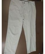 BROOKS BROTHERS ADVANTAGE CHINO CLARK MEN'S GOLF PANTS WHITE 100% COTTON... - $19.59