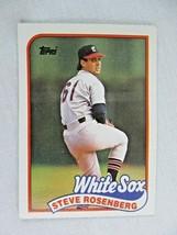 Steve Rosenberg Chicago White Sox 1989 Topps Baseball Card Number 616 - $0.98
