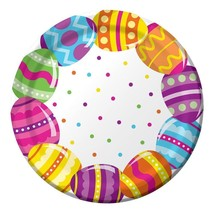 """Easter Egg Fun 8 Ct 9"""" Lunch Paper Plates Colorful Spring Party - $3.89"""