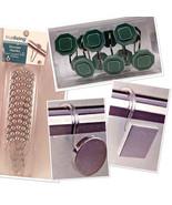Shower Hooks for Curtain Liner Rod 12 Pack - $10.88+