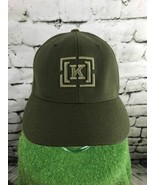 [K] Mens One Sz Hat Green Fitted Wool Blend Pro Back Flexfit Baseball Cap - $18.80
