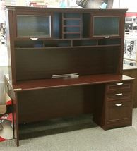 Realspace Magellan Performance Collection Straight Desk + Hutch, Cherry - $479.99
