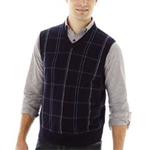 Dockers Windowpane Sweater Vest Size XL New Deep Night MSRP $45.00 - $16.99
