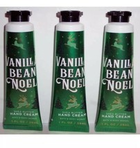 Bath & Body Works VANILLA BEAN NOEL 1 oz. Hand Cream Pack Of 3 NEW - $15.15