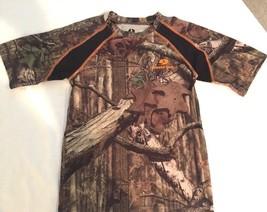 MOSSY OAK Youth Camouflage SHORT SLEEVE SHIRT Hunting Outdoors SZ Medium - $10.54