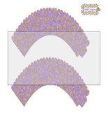 CupCake Wrapper7-Digital Clipart-Holiday-Gift Tag-Digital Paper - $2.00