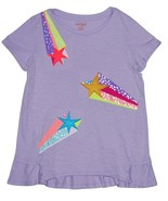 Girls' Shooting Star Graphic T-Shirt - Cat & Jack  Soft Lilac XL - $6.50