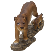 Pacific Giftware Realistic Lioness with Little Cub Perching on Tree Bran... - $39.59