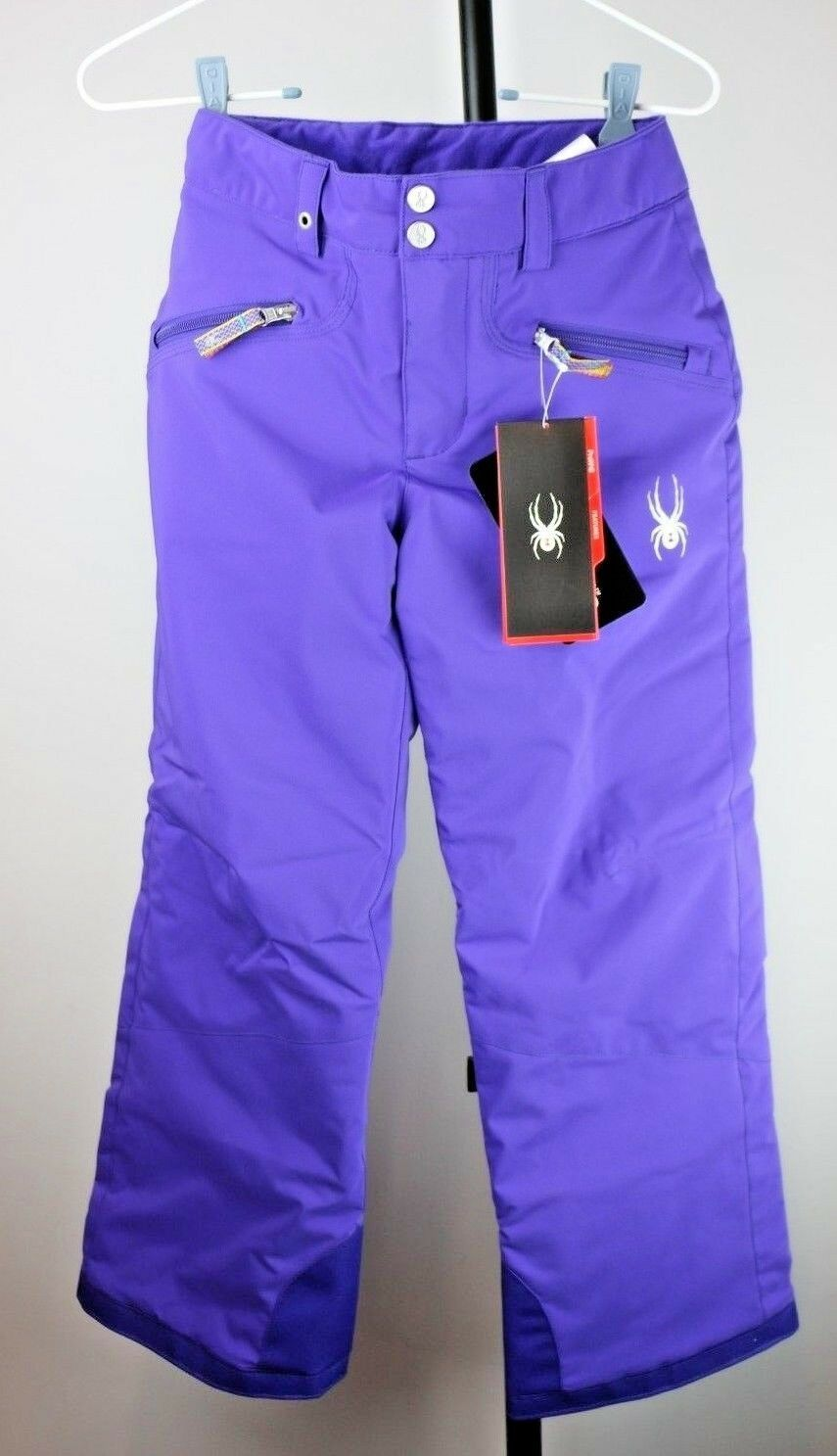 Spyder Girl's Vixen Tailored Snowboard Insulated Snow Ski Pixie Pants Kids 10 M