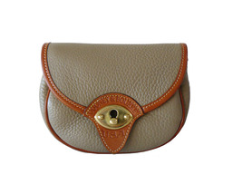 Dooney & Bourke Cavalry Taupe and British Tan AWL Crossbody Belt Shoulde... - $65.00