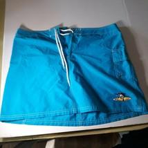 Hyp Athletic Skirt XLarge Turquoise Blue Karen Rhodes Fun Billfish Art N... - $18.81