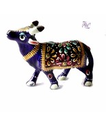 Aluminum Cow Decor Colorful Indian Decorative Hand Made Gift Meena Painted - $15.95