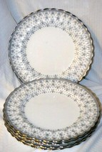 Copeland Spode Fleur de Lys Grey  Dinner Plate - $20.78