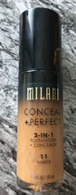 Milani Conceal & Perfect Foundation Amber 1 oz New - $6.95