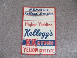 Member Kellogg's Korn Klub Higher Yielding KK HYBRID corn seed embossed ... - $285.00