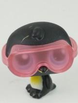 Hasbro Littlest Pet Shop LPS #389 Black Penguin Blue Eyes With Goggles - $9.69