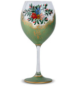 Green non-lead crystal wine glasses (set of 4) - $39.95