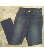 Chicos Size 0 So Lifting Straight Leg Jeans Womens Size 4 Dark Wash Stre... - $19.80