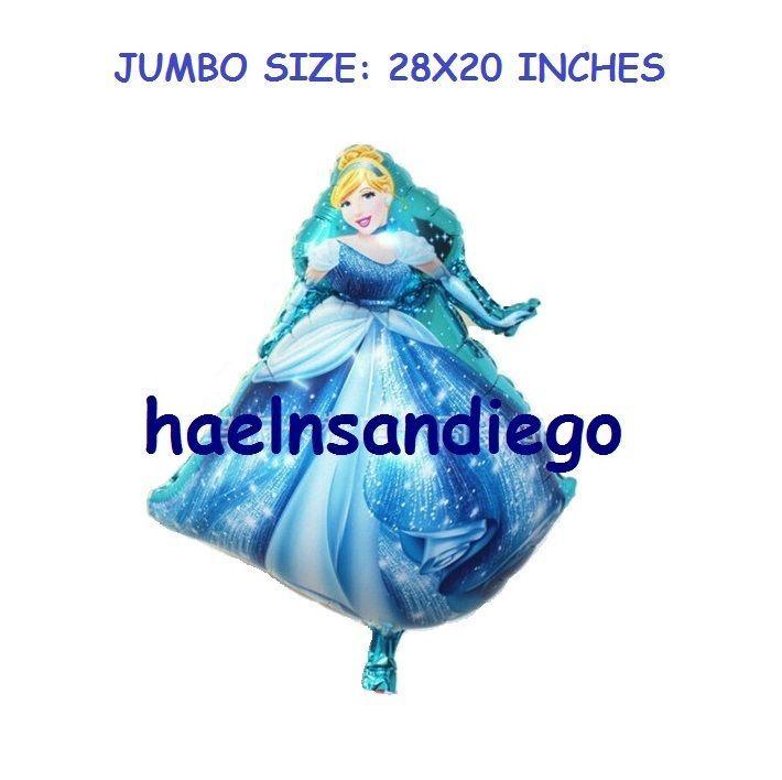 (¯`·. 17 Princess CINDERELLA Birthday Party Balloons!! FREE Shipping!! .·´¯)