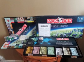 PLANET EARTH Parker Brothers MONOPOLY 1996 Property Trading Board GAME~C... - $42.00