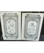Brown House Dolls New Born Christening Patterns 1988 Two Different* - $16.00