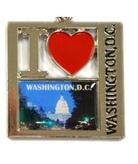"Square Shaped ""I Heart Washington DC"" with U.S Capitol Night Landscape P... - $3.50"