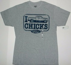 Official Licensed Ford I pick chicks truck t shirt New - $13.99