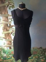 Nine West Dress Black Cocktail Lined Sleeveless Dress Size 6 - $39.59